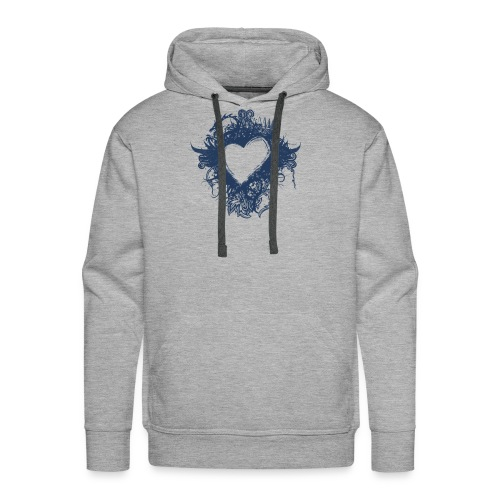 serce - Bluza męska Premium z kapturem