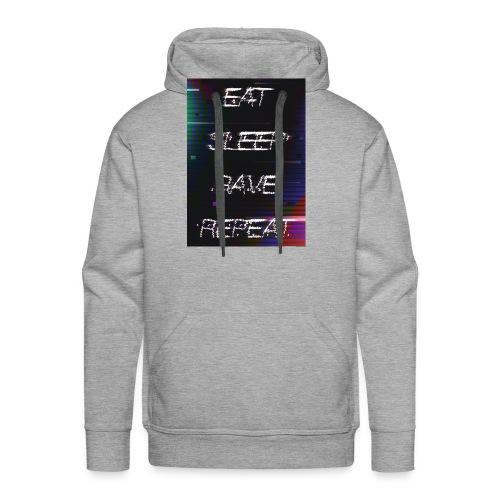 Eat Sleep Rave Repeat 1 - Sweat-shirt à capuche Premium pour hommes
