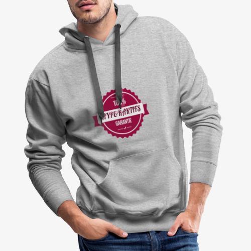 100% hyperaktifs garantie (magenta) - Sweat-shirt à capuche Premium pour hommes