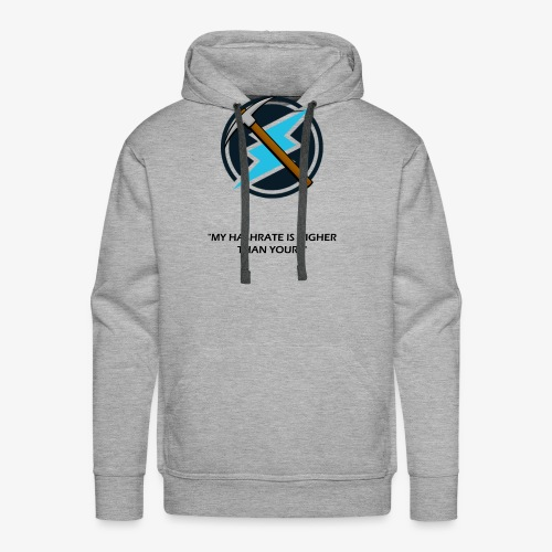 Electroneum - My HashRate is Higher than yours - Sweat-shirt à capuche Premium pour hommes
