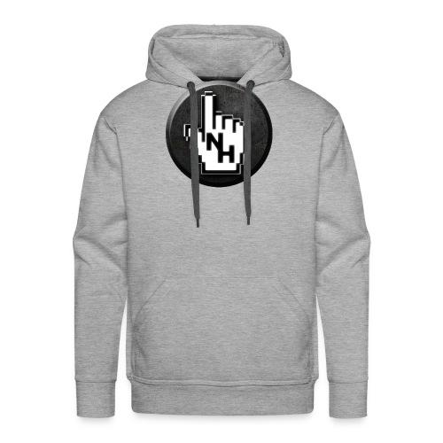 NoHand T-Shirt Schwarz (ohne Text) - Männer Premium Hoodie