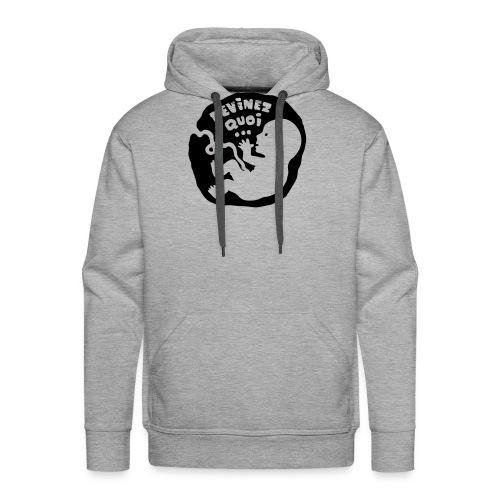 Devinez quoi… (enceinte) - Sweat-shirt à capuche Premium pour hommes