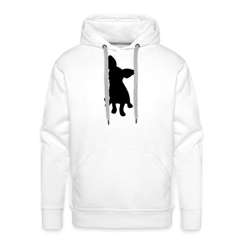 Chihuahua istuva musta - Miesten premium-huppari