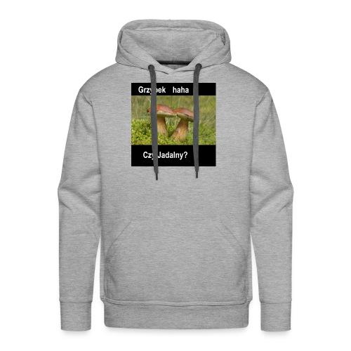 Grzybki.... - Bluza męska Premium z kapturem