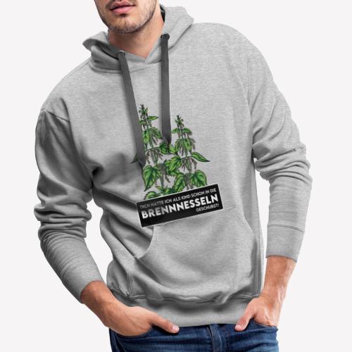Brennnessel Schubsen - Männer Premium Hoodie