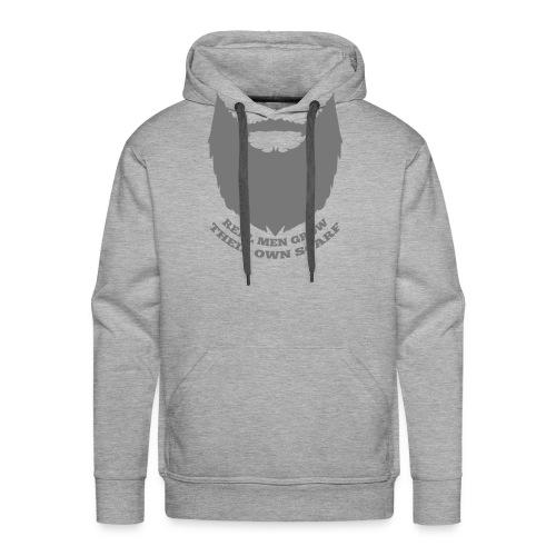Real men grow their own scarf - Mannen Premium hoodie