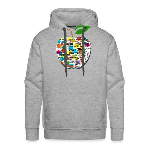 ny apple - Felpa con cappuccio premium da uomo