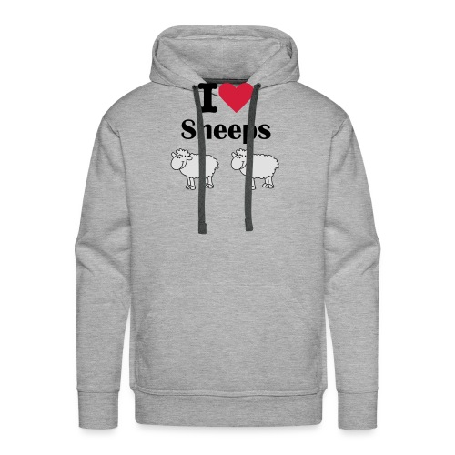 I-love-sheeps - Sweat-shirt à capuche Premium pour hommes