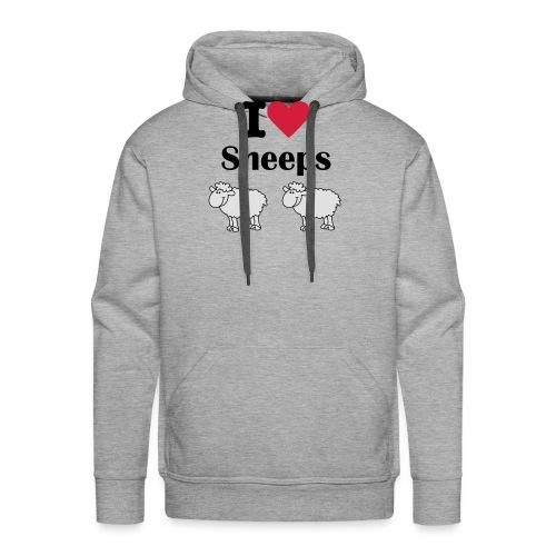 I-love-sheeps - Sweat-shirt à capuche Premium pour hommes
