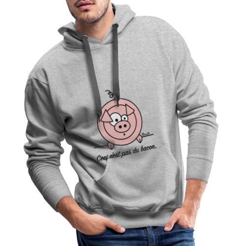 Cochon, Ceci n'est pas du Bacon - Sweat-shirt à capuche Premium pour hommes