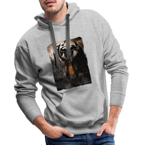 Canis Draconi Terrier - Mannen Premium hoodie