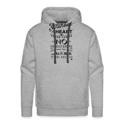 Without the heart black - Men's Premium Hoodie