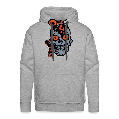 tete mort moto motrocycle oeil skull - Sweat-shirt à capuche Premium pour hommes