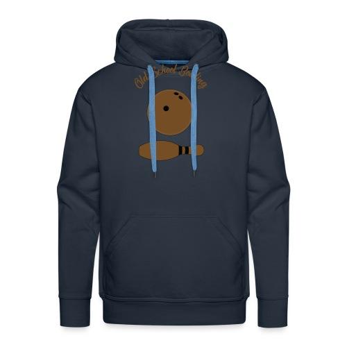 Old School Bowling - Sweat-shirt à capuche Premium pour hommes
