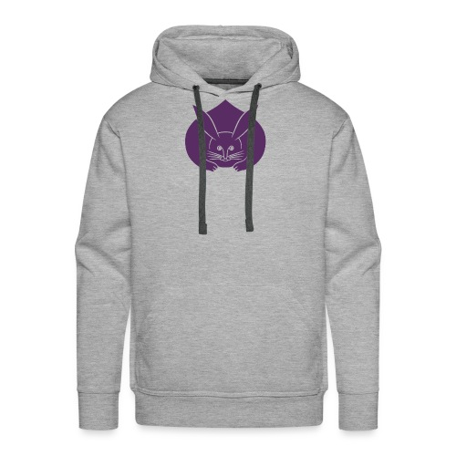 Usagi kamon japanese rabbit purple - Men's Premium Hoodie