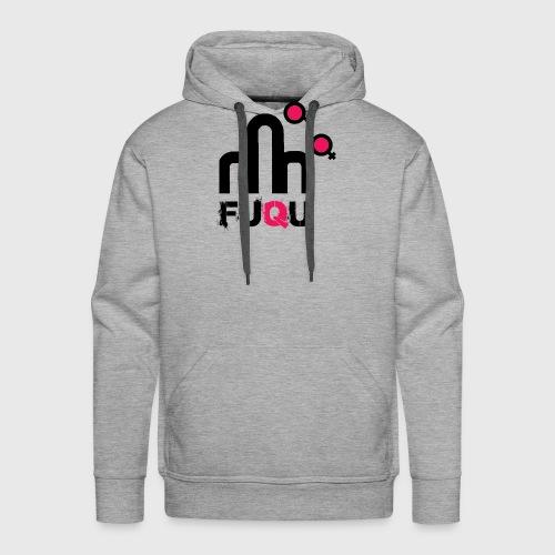 T-shirt FUQU logo colore nero - Felpa con cappuccio premium da uomo