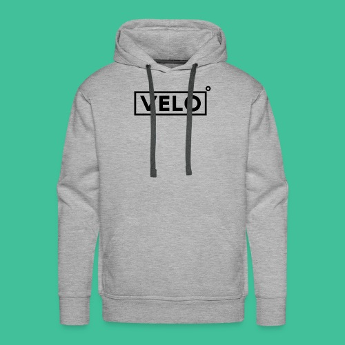 Velo Icon Blk - Long Sleeve Baseball Shirt W/N Clr - Men's Premium Hoodie
