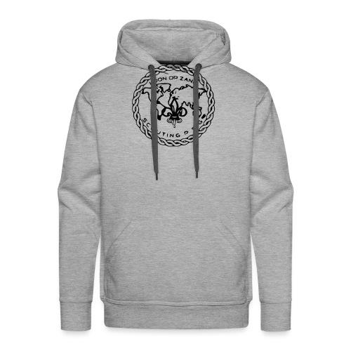 Logo PSG standaard zw klein eps - Mannen Premium hoodie