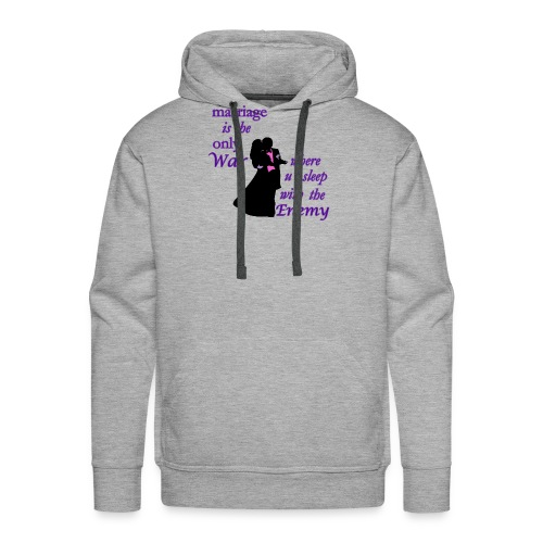 marriage_funny tshirts - Men's Premium Hoodie