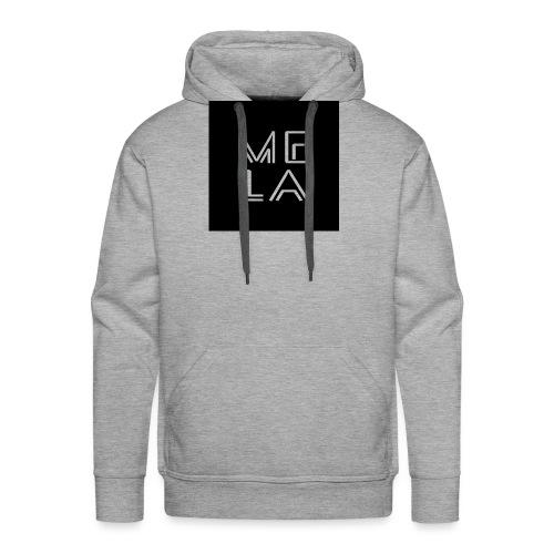 Mela Svart Logo - Premium hettegenser for menn