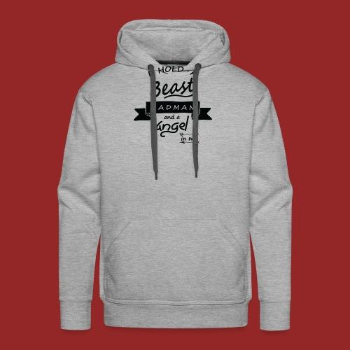 Beast angel madman - Sweat-shirt à capuche Premium pour hommes