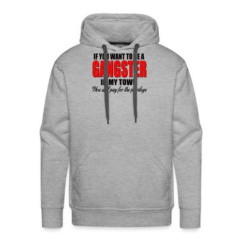 ville gangster - Sweat-shirt à capuche Premium pour hommes