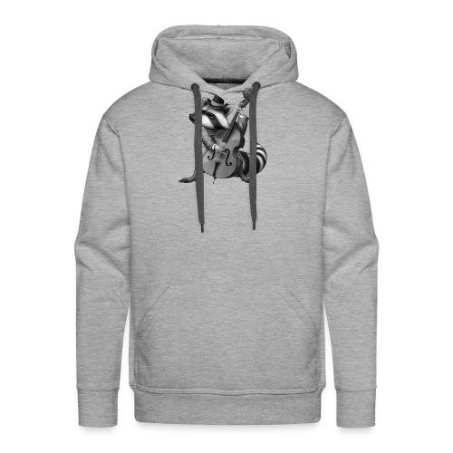 Racoon Musician - Männer Premium Hoodie