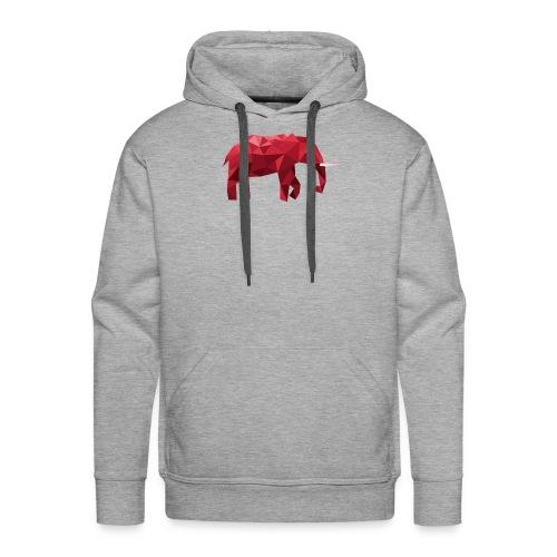 Elefant Vektor Rot - Männer Premium Hoodie