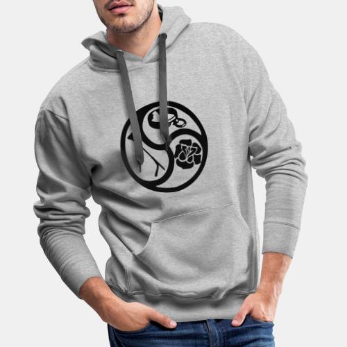 Triskele triskelion BDSM Emblem HiRes 1 color - Männer Premium Hoodie