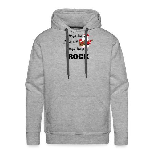 Jingle bell rock - Felpa con cappuccio premium da uomo