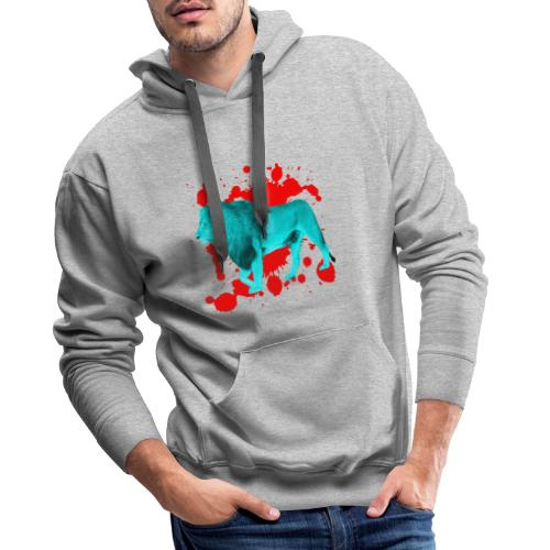 Löwe in Türkis - Männer Premium Hoodie