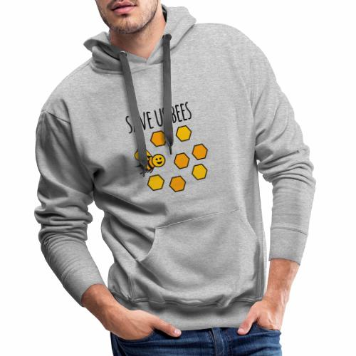 save us bees 2 - Men's Premium Hoodie