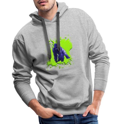 Blue Green Gorilla - Männer Premium Hoodie