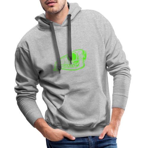 Grüner Säbezahnhirsch Schädel - Männer Premium Hoodie