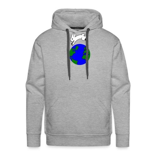 bunny hop world - Sweat-shirt à capuche Premium pour hommes