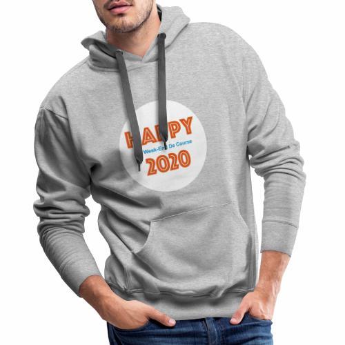 Happy 2020 - Sweat-shirt à capuche Premium pour hommes