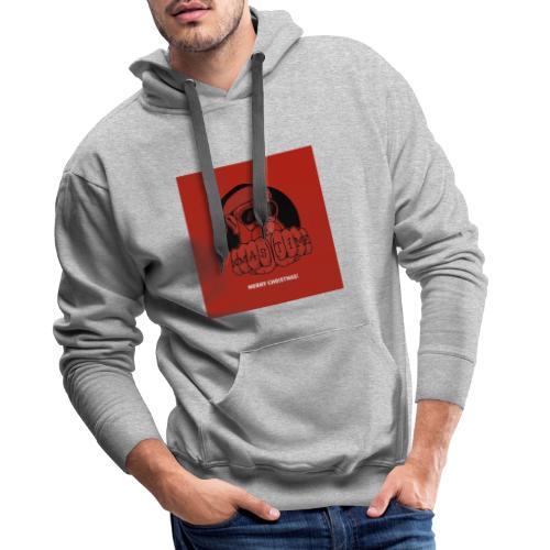 Kerstmis kerstman mondkapje 2 lagen, herbruikbaar - Mannen Premium hoodie