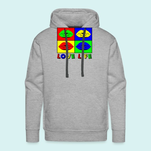 Love Life Multicolore - Sweat-shirt à capuche Premium pour hommes