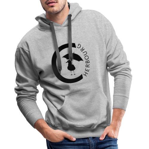 Cherbourg mouette - Sweat-shirt à capuche Premium pour hommes