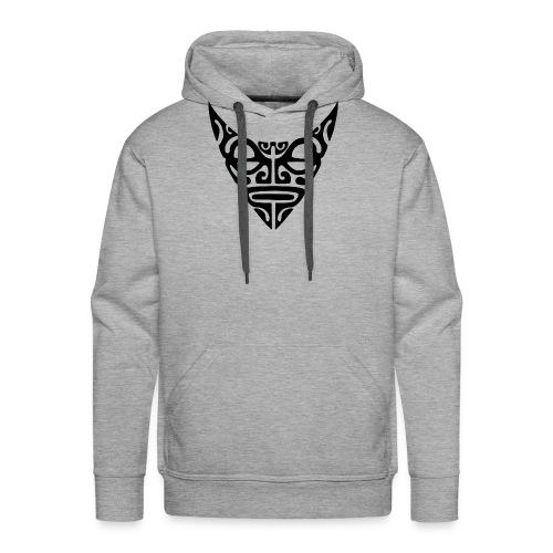visage maori7 noir - Sweat-shirt à capuche Premium pour hommes