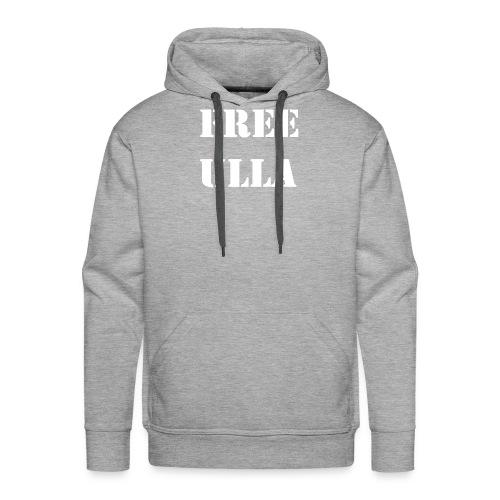 Free Ulla - Vit Text - Premiumluvtröja herr