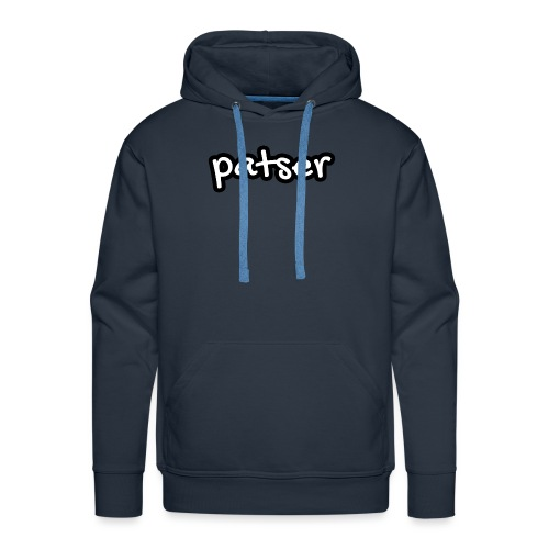 Patser - Basic White - Mannen Premium hoodie