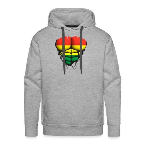 lituanie drapeau torse corps muscle abdo - Sweat-shirt à capuche Premium pour hommes