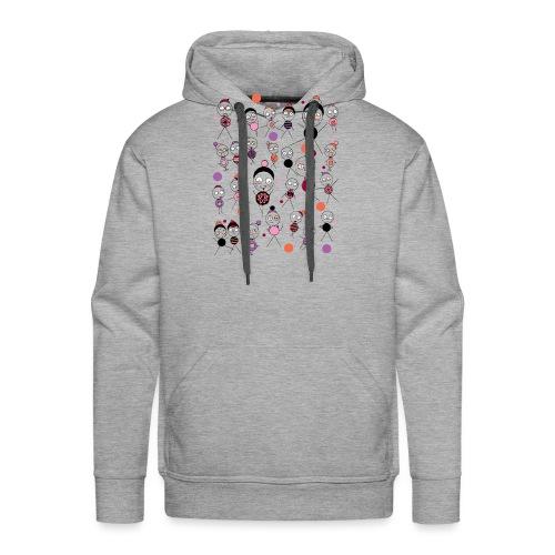 Bonhommes en Hiver - Sweat-shirt à capuche Premium pour hommes