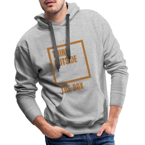 Think out the box - Sudadera con capucha premium para hombre