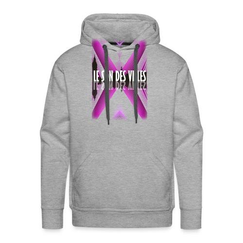 The wall - purple - by Lesondesvilles - Sweat-shirt à capuche Premium pour hommes
