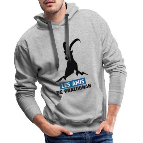 Logo Les Amis de Pralo grand noir - Sweat-shirt à capuche Premium pour hommes