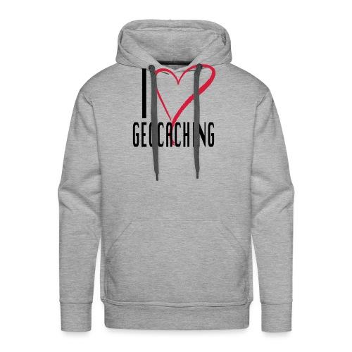 I love Geocaching - Miesten premium-huppari