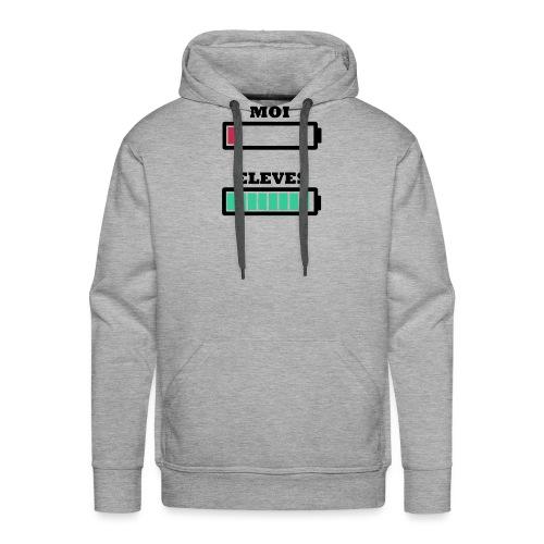 Energie Professeur vs Élèves - Sweat-shirt à capuche Premium pour hommes