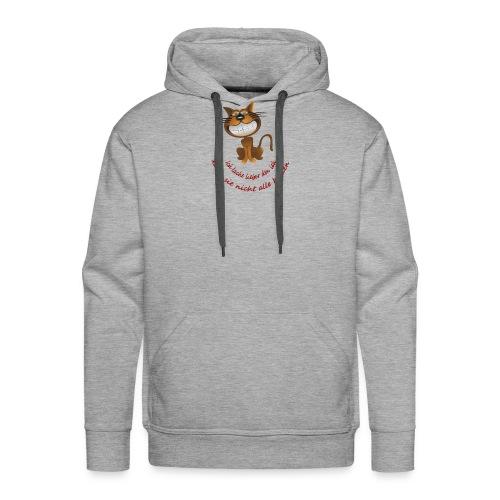 Katze die grinst - Männer Premium Hoodie